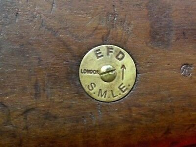 BRASS STOCK ID DISC FOR BRITISH SMLE No1 .303 LEE- ENFIELD RIFLE BUTT STOCK