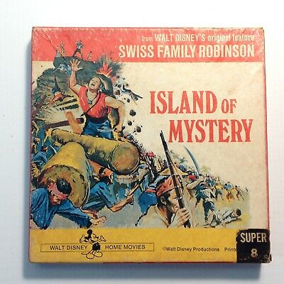 "Vintage 8mm Super 8 B & W Movie ""Island of Mystery""  from Swiss Family Robinson"