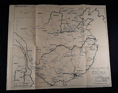 Map & Handbook On China United States Army Forces In China - Burma - India, 1942