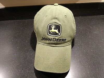 John Deere Green and Black Baseball Hat - Excellent Condition