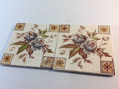 2 Antique Victorian Tiles