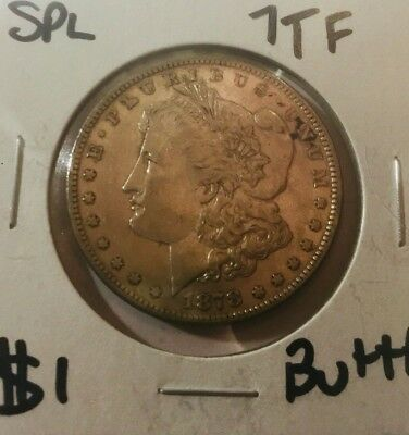 1878 7tf  MORGAN RARE DATE REAL SHARP REAL KEEPER AU/BU COLLECTOR COIN 1 day