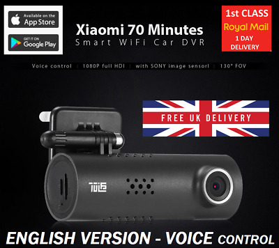 Xiaomi 70 Minutes Dash Cam Car 1080P SONY smart WiFi ENGLISH voice control UK1st