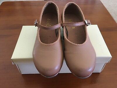 Junior Girls Bloch Tan Tap-On Shoes Size 10.5