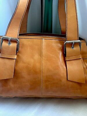 Kenneth Cole Leather Handbag Inner Outer Pockets Heavy Duty G Condition L