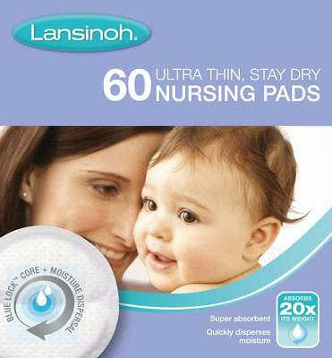 Lansinoh Nursing Pads Ultra Thin Stay Dry Baby Breast Feeding 60 Pack