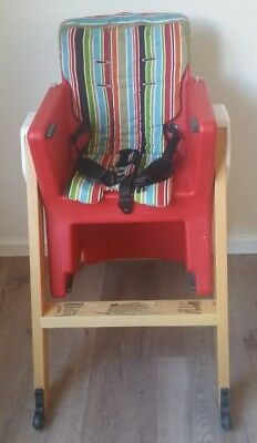 AGE HiLo CHAIR - Red colour in good condition - no tray