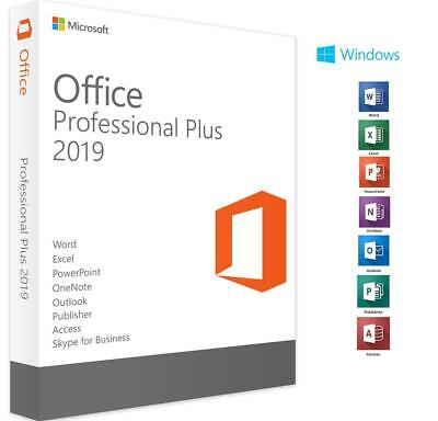 GENUINE Microsoft Office 2019 Professional Plus Activation Key 32/64 BIT PC WIN