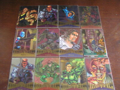 12 metal x men holofoil marvel gold foil signature signed card cards topps