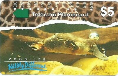Rare Prefix 87: $5 Taronga Zoo Platypus Telstra Phonecard