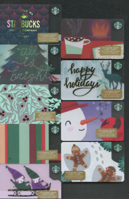 55 🎄christmas Set Starbucks Gift Card No Value Holiday 2018 New 55 Card Lot !