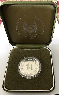 1976 Singapore One Dollar Sterling Silver Proof Coin