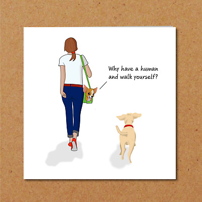 Funny DOG Birthday Card Thank You Friend Friendship Humorous Owner