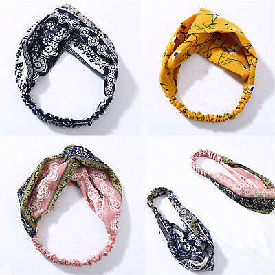 Fashion Women Turban Twist Knot Headwrap Twisted Knotted Elastic Hairband CE
