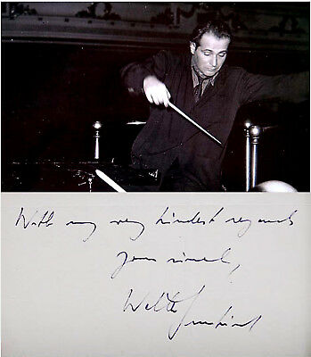 Conductor WALTER SUSSKIND Hand SIGNED AUTOGRAPH + ACTION PHOTO + DECORATIVE MAT