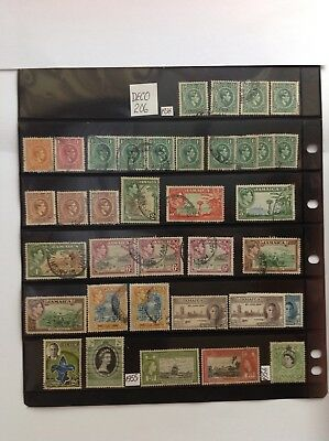 jamaica stock sheet x 36 stamps used