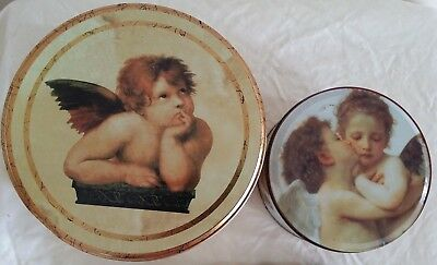 2 x Angel Biscuit Tins (postage OK)