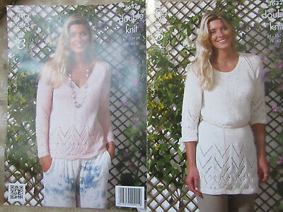 34af0c032ead LADIES SWEATER Knitting Pattern 32 42 Inch Double Knit Easy Knit ...