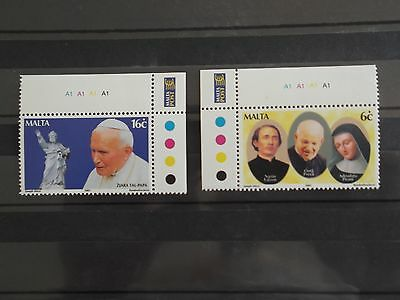 Malta Stamps 2001 - Pope's Visit To Malta - Set Of Two -  Mint Never Hinged