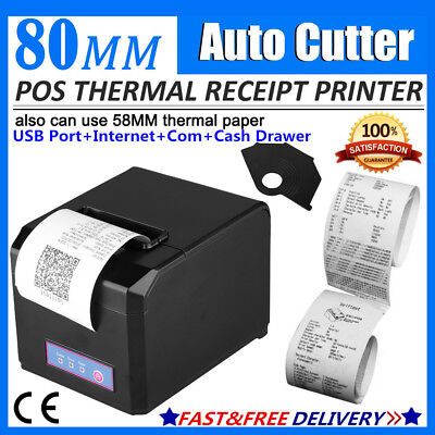 Excelvan 300mm/Sec 80mm AUTO-CUT Thermal Receipt Printer For Android/IOS/Windows