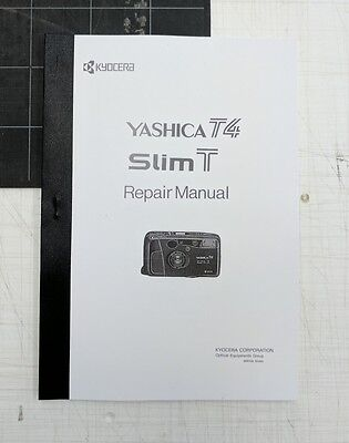 Yashica T4 official camera repair service manual guide physical copy Kyocera T5