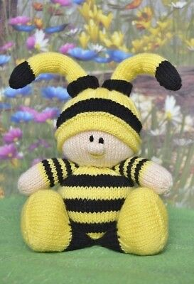 Bumble Bee Baby Toy Knitting Pattern Instructions To Make Yourself Kbp 265