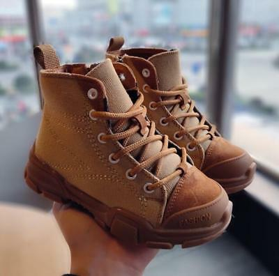 Kids Boys Girls Fashion Sneakers Korea Style Ankle Boots Children Sport Shoes