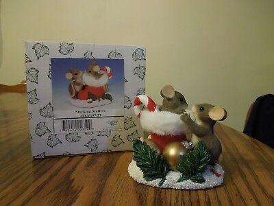Charming Tails Fitz & Floyd #97/27 STOCKING STUFFERS member exclusive
