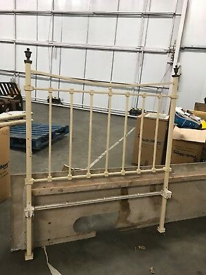 Original iron bed with finials