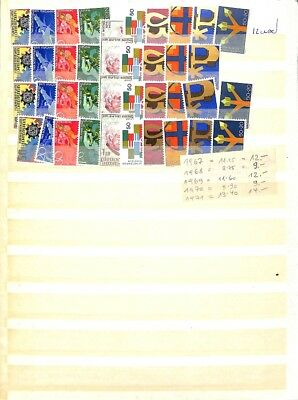 [OP7316] Liechtenstein lot of stamps on 12 pages - see photos on description