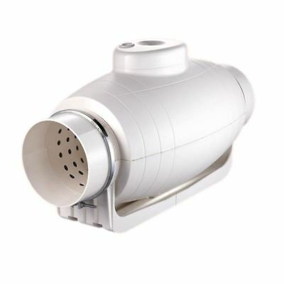 "Mix Flow Silencer Blower Fan Inline Silent Duct Power Fan[100/4""]"