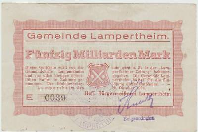 Lampertheim, Gemeinde:  50 Milliarden