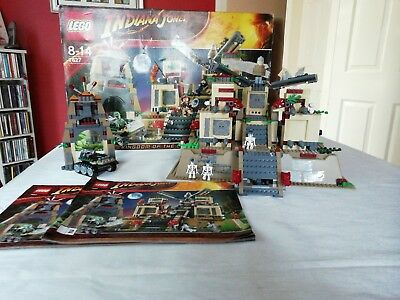 Indiana Jones Lego 8627 Kingdom Of The Crystal Skulls (About 90% Complete)