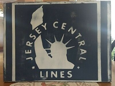 JERSEY CENTRAL LINES ~ Wooden Sign