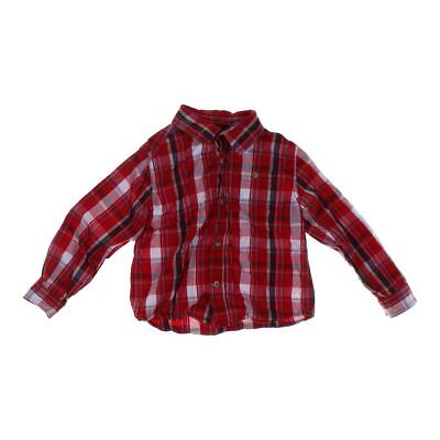 Cherokee Boys Shirt, size 5/5T,  red,  cotton