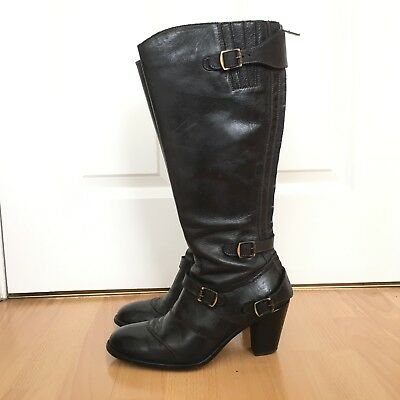 BELSTAFF Trialmaster Antique Black Leather Boots 38 (UK5) with Box