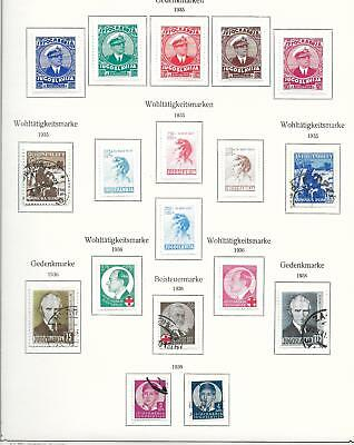 Yugoslavia stamps 1935 Collection of 18 stamps MLH/CANC VF HIGH VALUE!