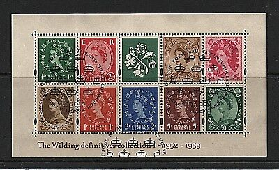 GB Stamps 2002 sg MS2326 'Wilding Definitives I' Miniature sheet - Fine used