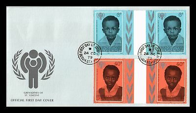 Dr Jim Stamps International Year Of The Child Fdc St Vincent Monarch Size Cover