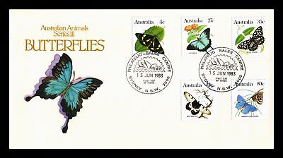 Dr Jim Stamps Butterflies Animal Series Fdc Australia Combo Monarch Size Cover