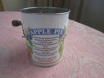Vintage Metal Flour Sifter APPLE - Bromwell's USA Made - Kitchen Baking