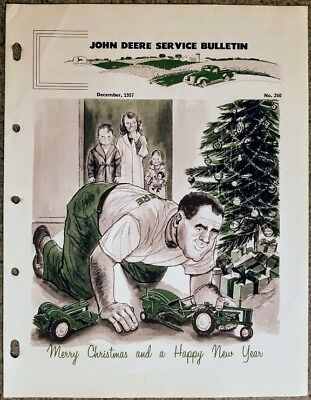 John Deere Service Bulletins Full Year 70 Pages W/*special Christmas Issue* 1957