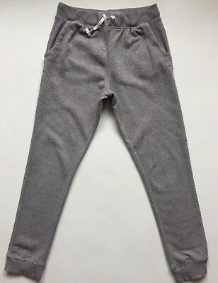 Next Girls Grey/Silver Sparkly Trousers Joggers 11 Years