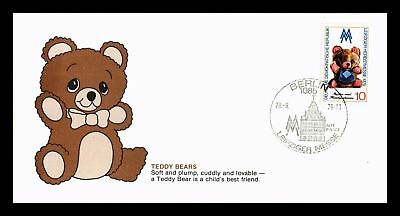 Dr Jim Stamps Teddy Bears Fdc Ddr East Germany Monarch Size Cover