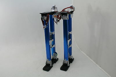 "Yescom Drywall Stilts 24""-40"" Aluminum Tool Stilt Painting Painter Taping Blue"