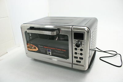 Silver Toaster Oven with Convection Heating Stainless Steel KRUPS Countertop Oven