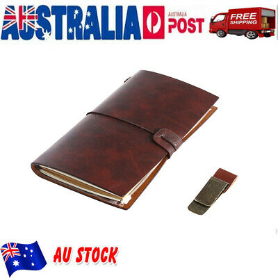 Journal Book Retro Leather Notebook Notepad Travel Diary Pocket Sketchbook