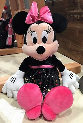 "Walt Disney World Parks 2019 Minnie Mouse Rock the Dots 15"" Plush NEW"