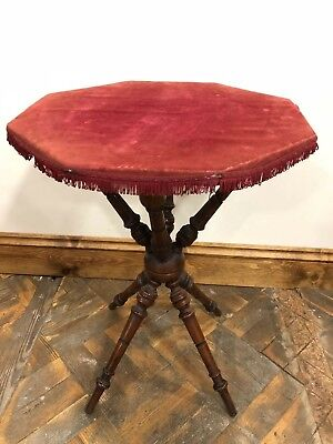 Antique Gypsy Style Table with Fabric Top - Delivery Available