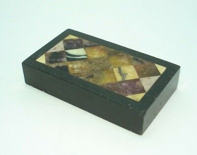 Victorian Specimen Marble and Blue John Paperweight, circa 1850
